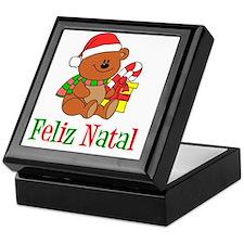 Feliz Natal Baby Shirt Keepsake Box