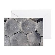 Hexagonal basalt columns, Giants Cau Greeting Card