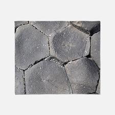 Hexagonal basalt columns, Giants Cau Throw Blanket