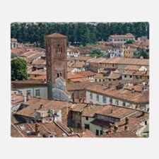 View of Lucca from Torre Guinigi, Lu Throw Blanket