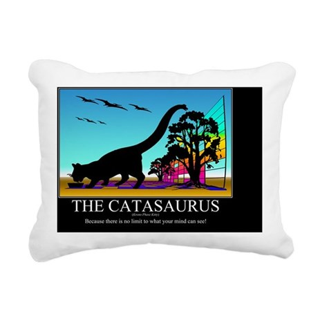 CATASAURUS_MOTIVATIONAL- Rectangular Canvas Pillow