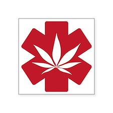 "Medical Marijuana Square Sticker 3"" x 3"""