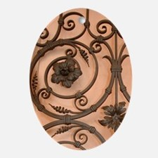 Italy, Orta, Lake Orta, wrought-iron Oval Ornament