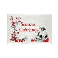 Spider, Skull and Roses Seasons G Rectangle Magnet