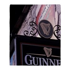 EUROPE, Ireland, Galway Pub Sign Throw Blanket