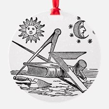 Masonic Woodcut Ornament