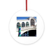 Europe, Italy, Venice. Rialto Bridg Round Ornament