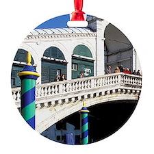 Europe, Italy, Venice. Rialto Bridg Ornament