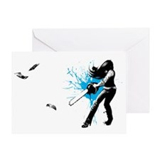 CASUAL FRIDAY lg blue by URSULA WILL Greeting Card