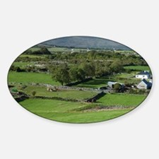 Irish Countryside, Ireland, Farm, S Sticker (Oval)