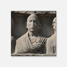 "Roman Art. The Appian Way.  Square Sticker 3"" x 3"""