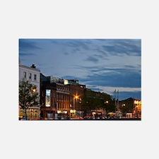 Dublin, Ireland. Evening descends Rectangle Magnet