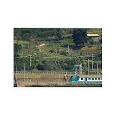 Corniglia. Passenger train that t Rectangle Magnet