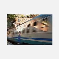 Italy, Vernazza. Train speeds thr Rectangle Magnet