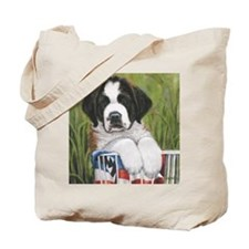 st bernard square Tote Bag