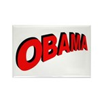 Obama Red Arc Rectangle Magnet (10 pack)