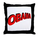 Obama Red Arc Throw Pillow