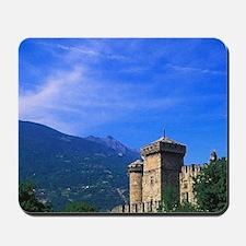 Castle of Fenis near Italian Alps in Fen Mousepad
