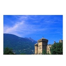 Castle of Fenis near Ital Postcards (Package of 8)
