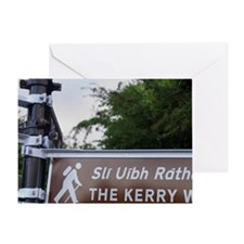 Ireland, Kerry, Kenmare. Sign for Th Greeting Card