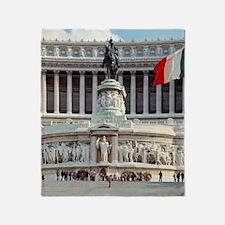 The Victor Emmanual Monument, begun  Throw Blanket