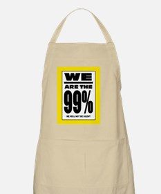 occupy wall street yellow poster Apron