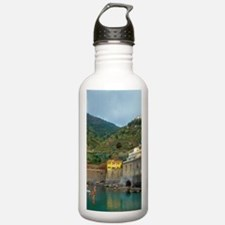 Italy: Cinque Terre, V Water Bottle
