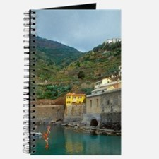 Italy: Cinque Terre, Vernazza, harbor and  Journal