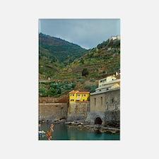 Italy: Cinque Terre, Vernazza, ha Rectangle Magnet