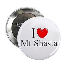 """""""I Love Mt. Shasta"""" Button"""