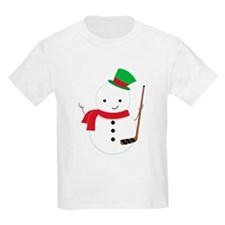 Hockey Sports Snowman T-Shirt