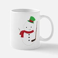 Hockey Sports Snowman Mugs