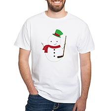 Hockey Sports Snowman T-Shirt