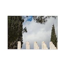 Israel, Jerusalem. Yad Vashem Hol Rectangle Magnet