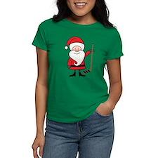 Hockey Sports Christmas Santa Tee