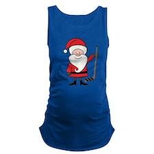 Hockey Sports Christmas Santa Maternity Tank Top