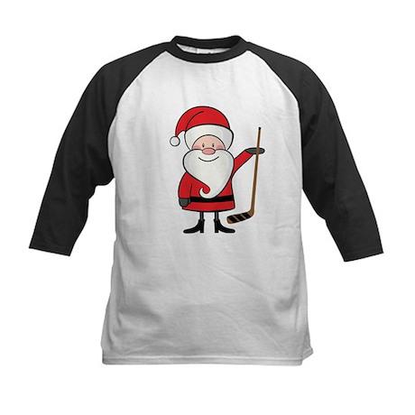 Hockey Sports Christmas Santa Kids Baseball Jersey