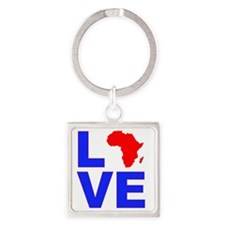 Love_Africa Square Keychain