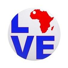 Love_Africa Round Ornament
