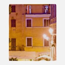 View of Piazza della Scala at night Throw Blanket