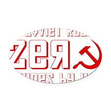 sovietzero1 Oval Car Magnet