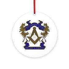 Masonic Brotherly Love Round Ornament
