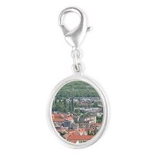 PECS: City View from the North, Silver Oval Charm