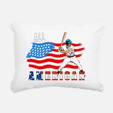 All American BaseBall pl Rectangular Canvas Pillow