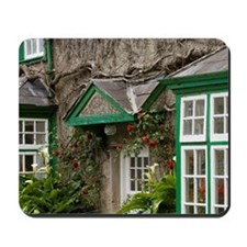 Ireland, County Mayo, Cong, cottages. Mousepad