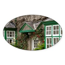 Ireland, County Mayo, Cong, cottage Decal