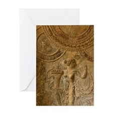 Pompeii. Ceiling details of the Stab Greeting Card