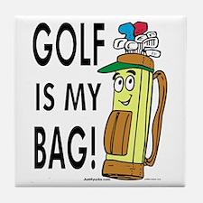 Golf Is My Bag Tile Coaster