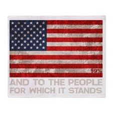 people-stands-DKT Throw Blanket