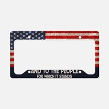 people-stands-OV License Plate Holder